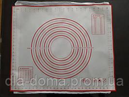 Коврик силиконовый кулинарный на тканевой основе 50 х 60 см.