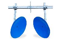 Окучник дисковый на двойной сцепке (ф дисков 450мм) для мотоблока и мототрактора