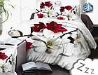 Комплект постельного белья Микроволокно HXDD-632 M&M 7205 Красный, Серый, фото 2