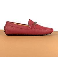 Мужские мокасины Louis Vuitton бордо (Луи Виттон) арт. 39-23, фото 1