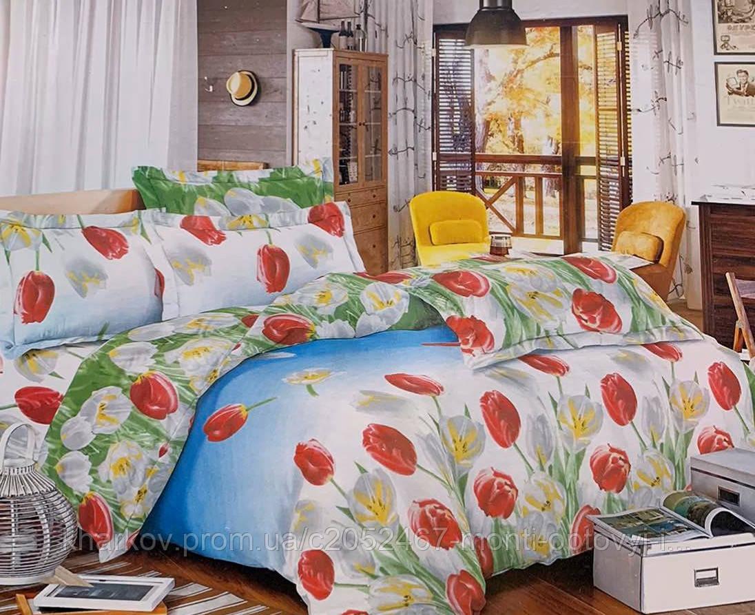 Полуторный комплект постельного белья в ярком дизайне