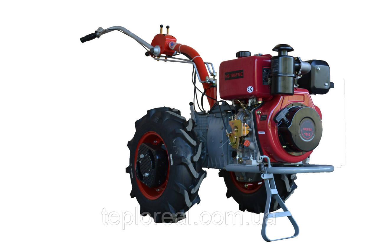 Мотоблок Мотор Січ МБ-9ДЕ(дизель 9 л. с., WEIMA WM186FE, електростартер)