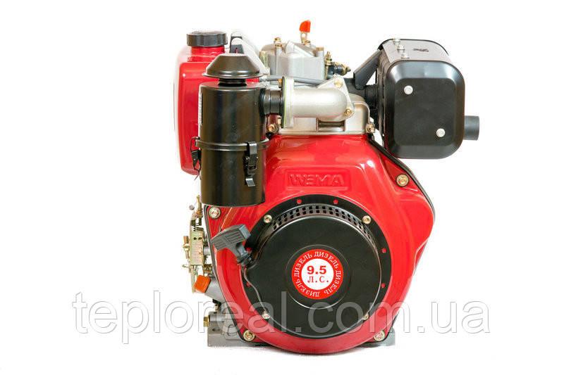 Двигун WEIMA(Вейма) 186FB - S (шпонка, дизельний 9л. с.)