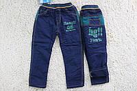 Утепленные котоновые брюки на флисе 2  года