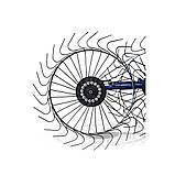 Грабли ворошилки для мотоблока навесные 4-х колесные (заводские ГОСТ, граблина 5мм) порошковая покраска, фото 5