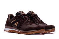 Мужские кожаные кроссовки  Reebok Classic Brown (реплика)