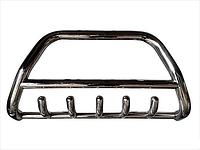 Передняя защита бампера, кенгурятник с грилем и трубой D60, Toyota HILUX (2015 +)