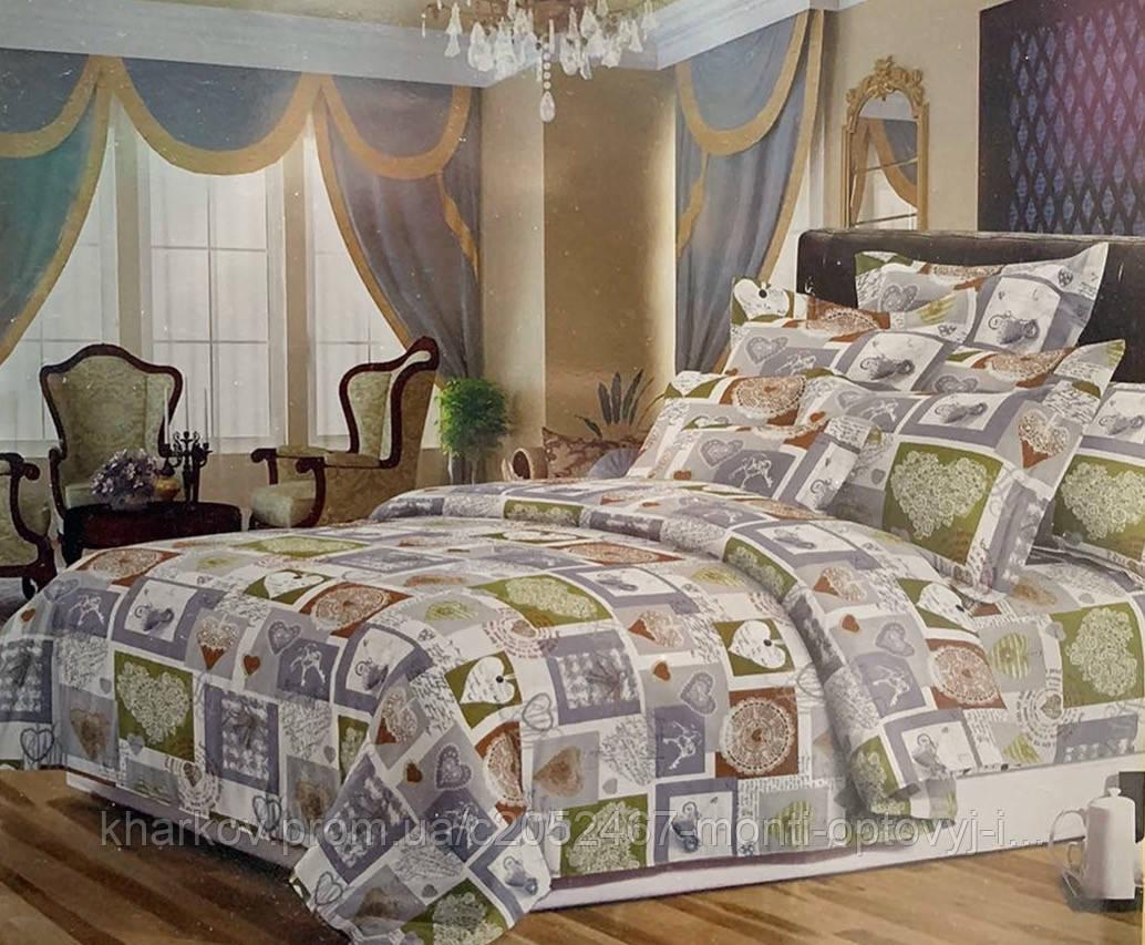 Полуторный комплект постельного белья со стильным узором