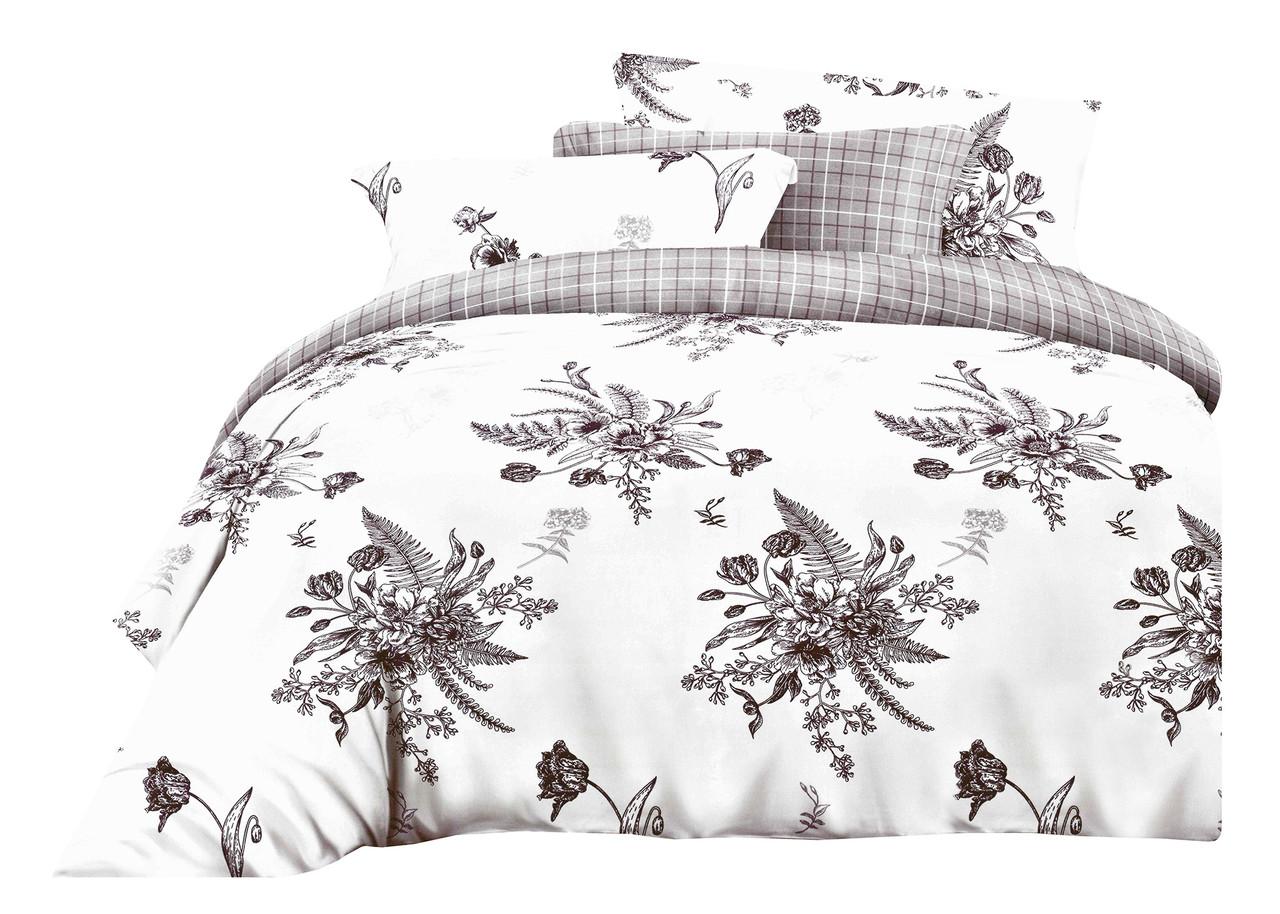 Комплект постельного белья Микроволокно HXDD-801 M&M 7267 Белый