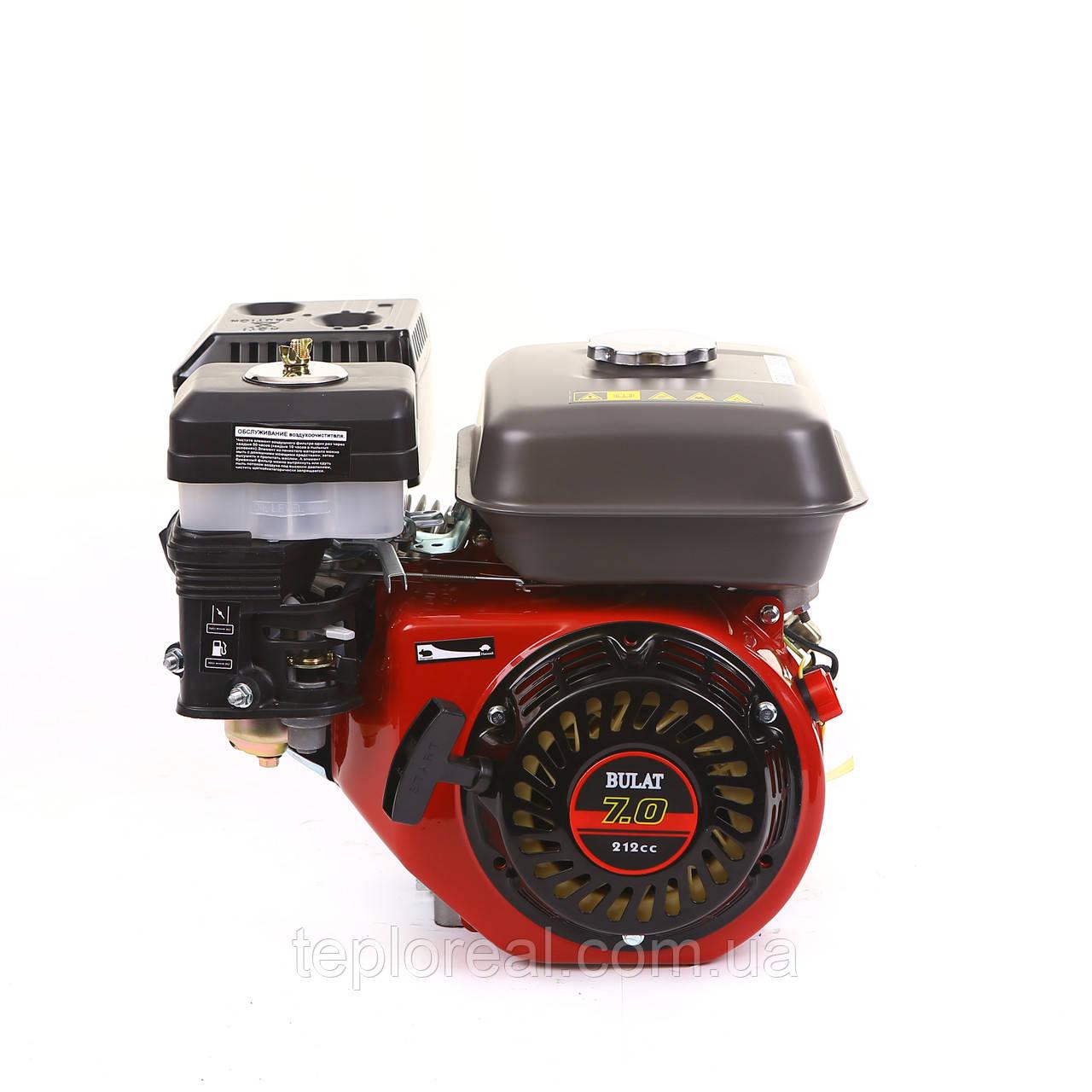 Двигатель бензиновый BULAT (WEIMA) BW170F-Q(7,0 л.с.под шпонку ф19мм)