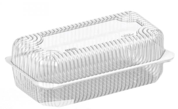 Одноразовый контейнер для еды 1600мл 500шт ПС-120Т 20*12,2*7,5см