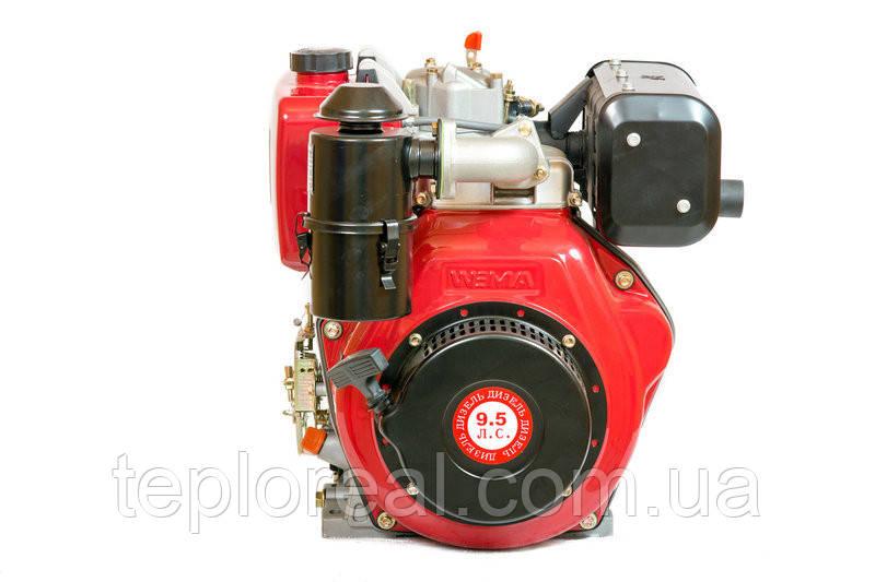 Двигун WEIMA(Вейма) WM186FBE - S (вал 30 мм, шпонка , 9л. с. дизель, знімний циліндр і з електро-стартером)