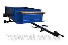 Прицепная тележка к мотоблоку под универсальную ступицу  (1,05 х 1,25 м без покрышек и колес)