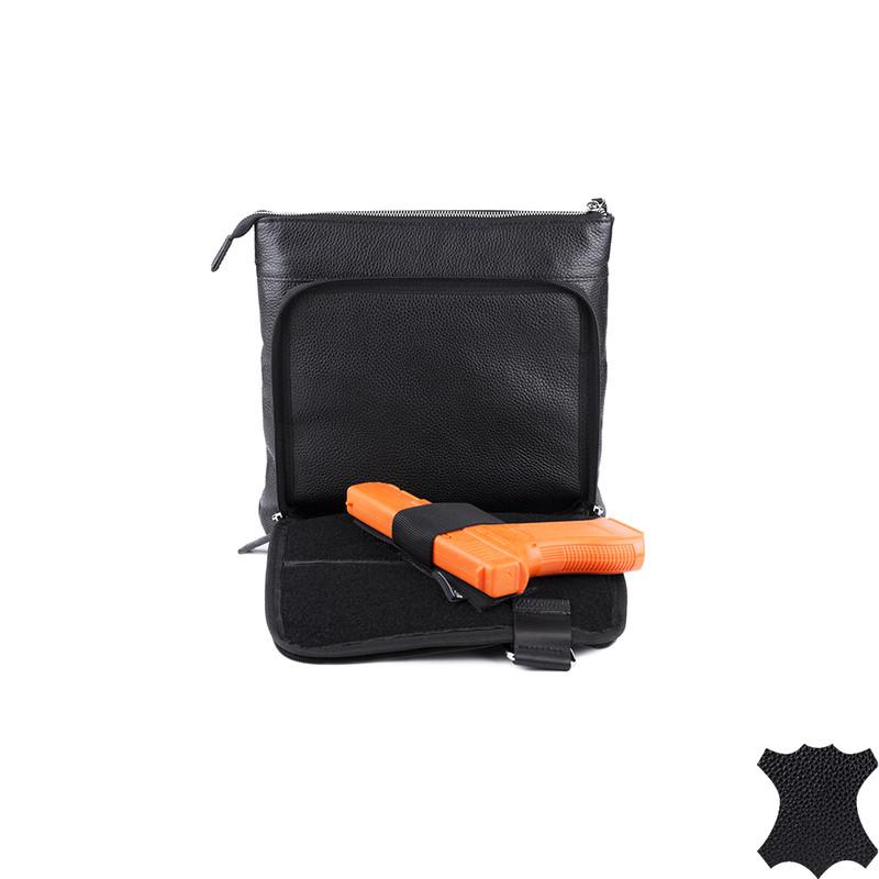 Шкіряна міська тактична сумка DANAPER GALLANT, Чорний 1427099 Чорний