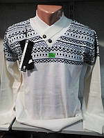 Мужской молодежный белый свитер 44-48рр
