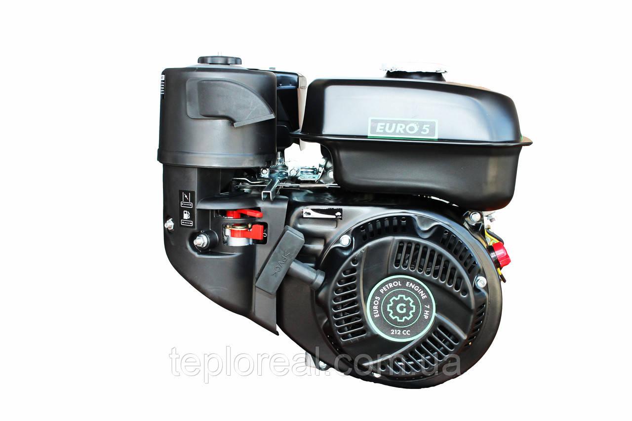 Двигатель GrunWelt GW210-S, NEW, бенз7.0 л.с. 212сс, (шпонка 20мм), бак 5л.