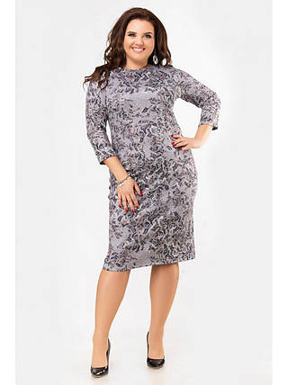 """Стильное женское платье с геометричным принтом ткань мягкая """"Ангора""""с 52, 56 размеры баталы, фото 2"""