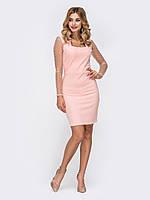 Вечернее Платье-футляр нежно-розовое  мини  42-44 44-46 48-50 52-54