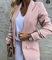 Женский стильный пиджак из костюмки