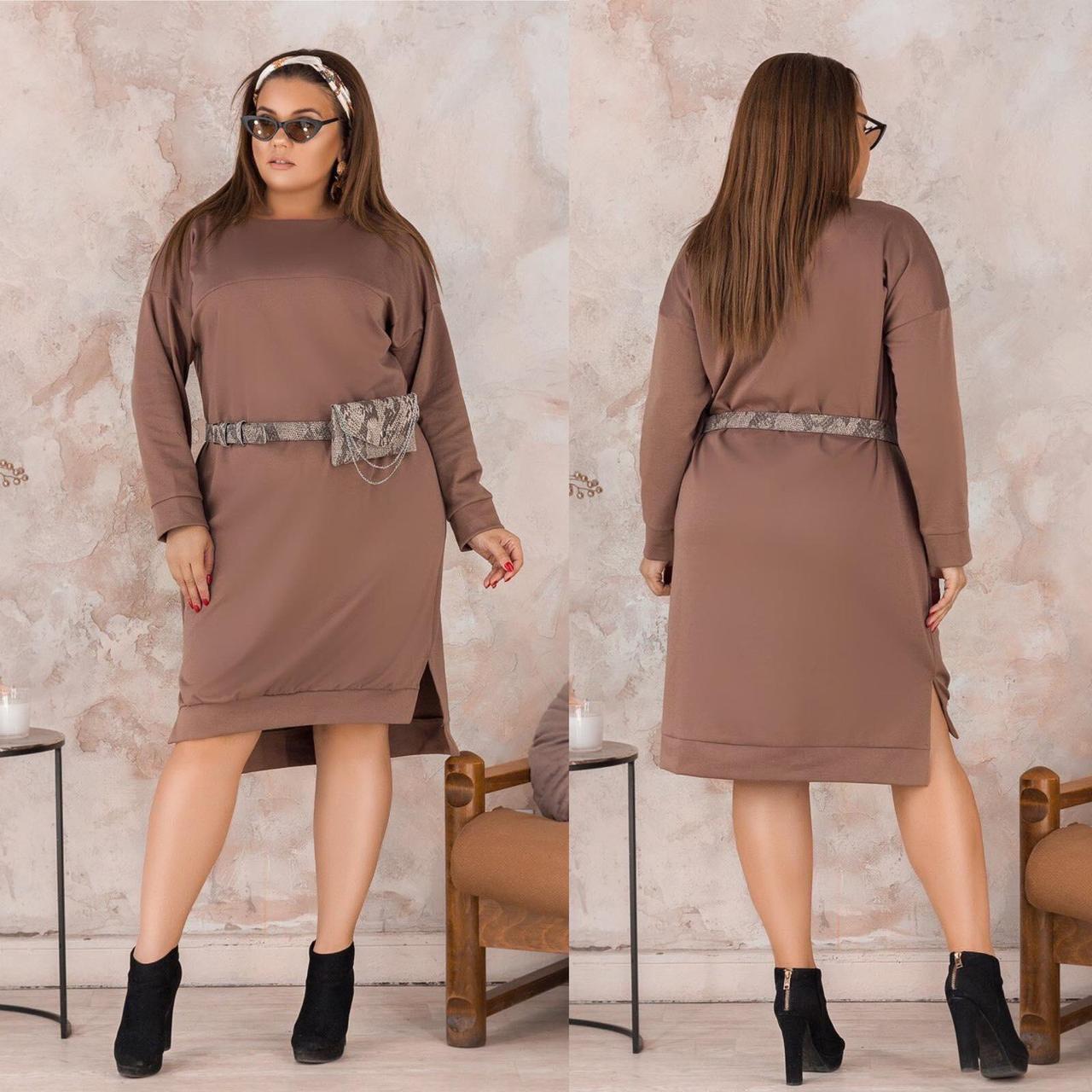 """Элегантное женское платье ткань """"Французский трикотаж"""" 56 размер"""
