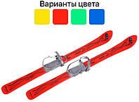 Детские лыжи 90 см с палками и креплениями Vikers Польша для детей Красный