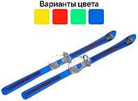 Детские лыжи 90 см с палками и креплениями Vikers Польша для детей Синий