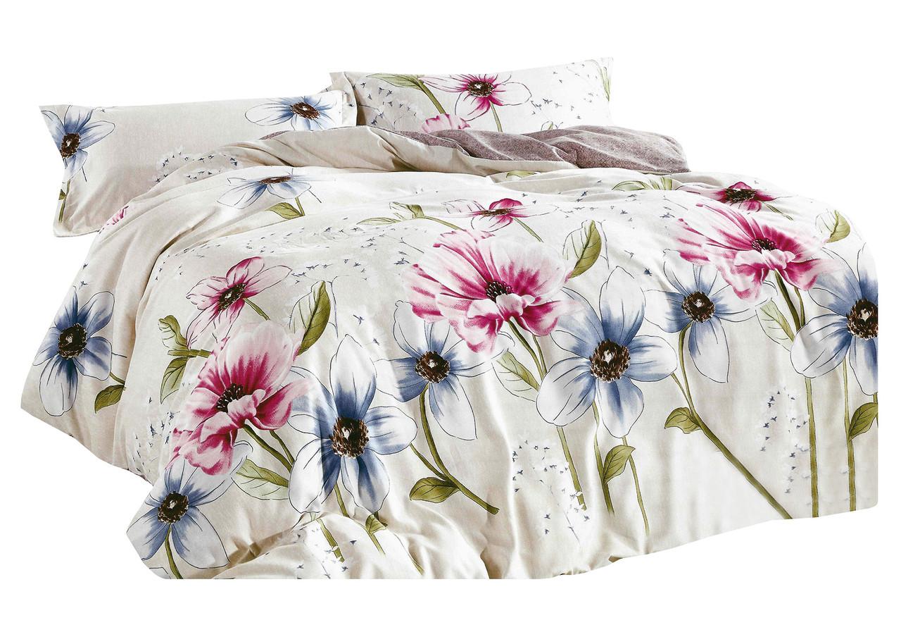 Комплект постельного белья Микроволокно HXDD-798 M&M 7281 Кремовый, Розовый, Синий