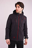 Ветровка куртка мужская черная Avecs AV-70388/1 Black Размеры 46