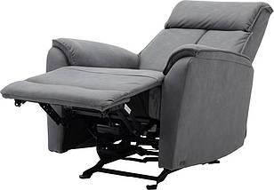 Кресло электро-реклайнер DM-05001 ткань серый TM Bellini, фото 3