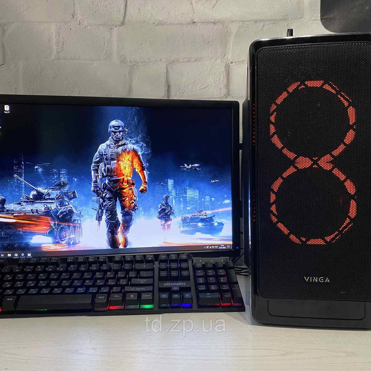 Игровой компьютер Ryzen 3 1200 + NVIDIA GTX 1060 3Gb + RAM 8Gb + SSD 240Gb