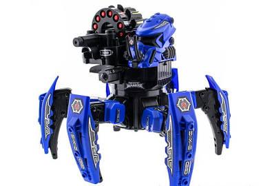 Робот-паук радиоуправляемый Keye Space Warrior с ракетами и лазером (синий)