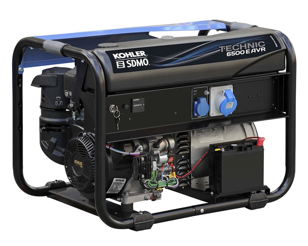 Однофазный бензиновый генератор SDMO TECHNIC 6500 E AVR (6.5 кВт)
