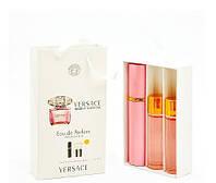 Мини-парфюм с феромонами женский VERSACE Bright Crystal 3х15 мл