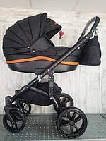 """Всесезонная детская коляска 2 в 1 """"MACAN"""" Black/Beige"""
