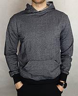 Сіра трикотажна худі з капюшоном кольору муліно Zomak ТМ