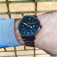 Мужские наручные часы черные Часы с черным циферблатом Годинник чоловічий