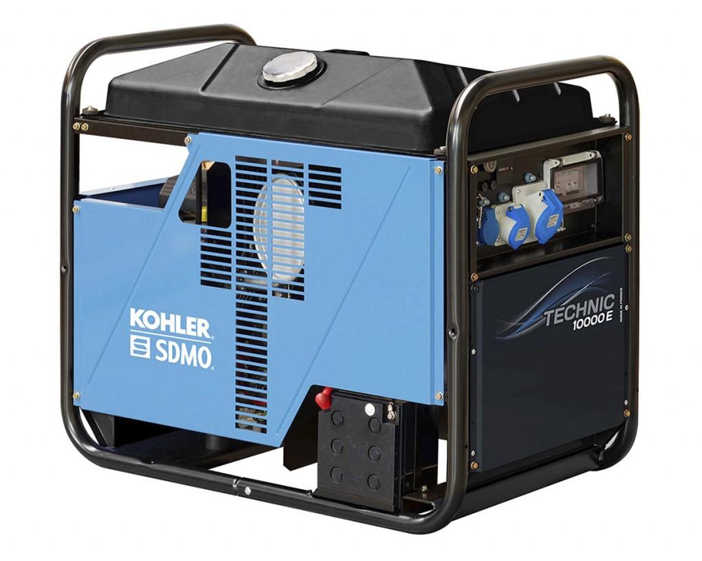 Однофазный бензиновый генератор SDMO TECHNIC 10000 E (10.5 кВт)