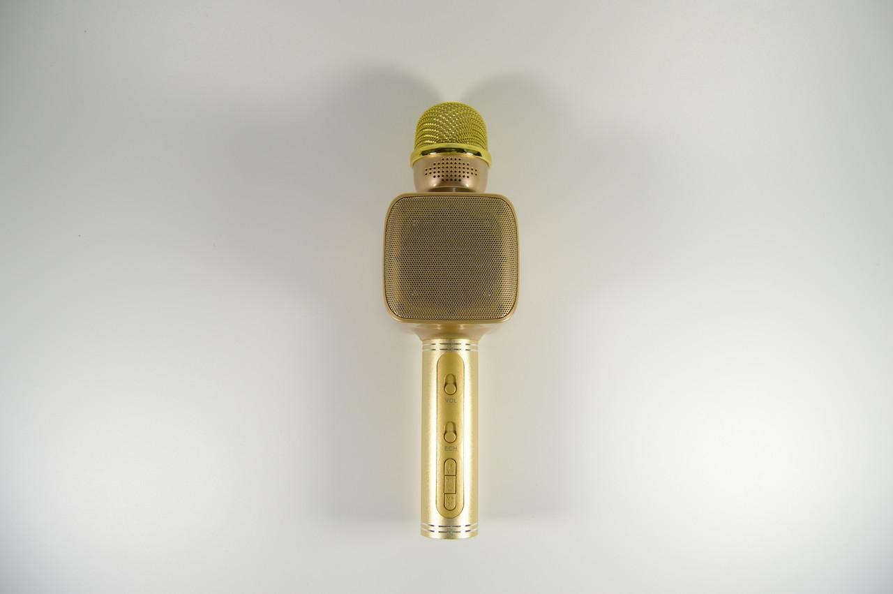 Беспроводной Bluetooth микрофон для караоке Magic Karaoke YS-68 золотой