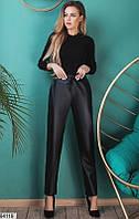 Брюки классика,кожаные лосины черные,штаны кожа,лосины эко-кожа,женские брюки с завышенной талией