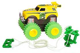 Машинка на бат. Trix Trux (желтый)