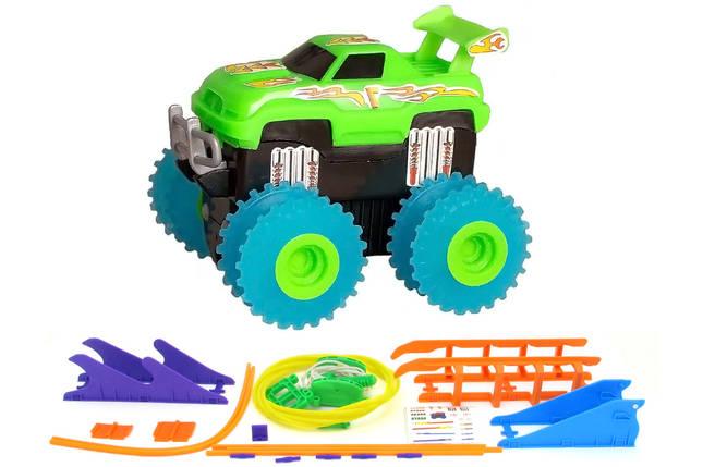 Машинка набат. Trix Trux набор с трассой (зеленый), фото 2