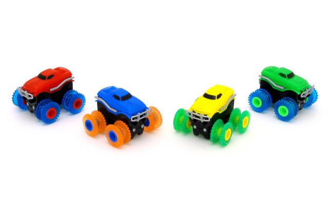 Машинки на бат. Trix Trux набор 2 машинки с трассой (красный+желтый), фото 2