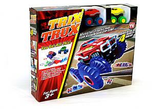 Машинки на бат. Trix Trux набор 2 машинки с трассой (красный+желтый), фото 3