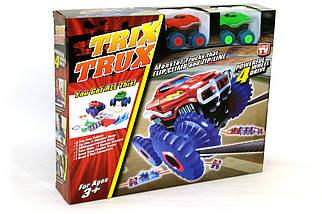 Машинки на бат. Trix Trux набор 2 машинки с трассой (красный+зеленый), фото 3