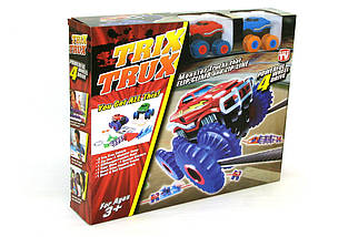 Машинки на бат. Trix Trux набор 2 машинки с трассой (красный+синий), фото 3