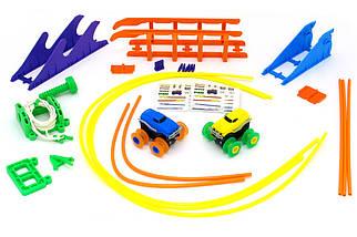 Машинки на бат. Trix Trux набор 2 машинки с трассой (синий+желтый), фото 2