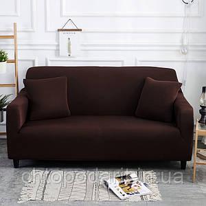 Чехол на диван универсальный для мебели цвет коричневый 90-140см