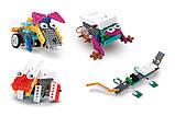 Конструктор электронный детский HIQ B711 12-в-1 173 детали (животные), фото 7