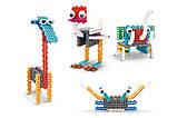 Конструктор электронный детский HIQ B711 12-в-1 173 детали (животные), фото 8