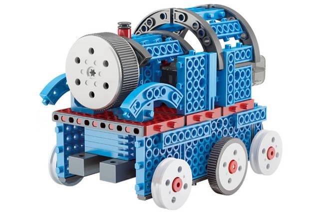 Конструктор STEM электронный HIQ B722 2-в-1 150 деталей сенсорный (машинка, поезд), фото 2